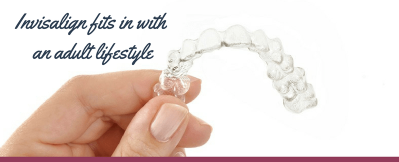 Invisalign fits in smoothly with an adult lifestyle.